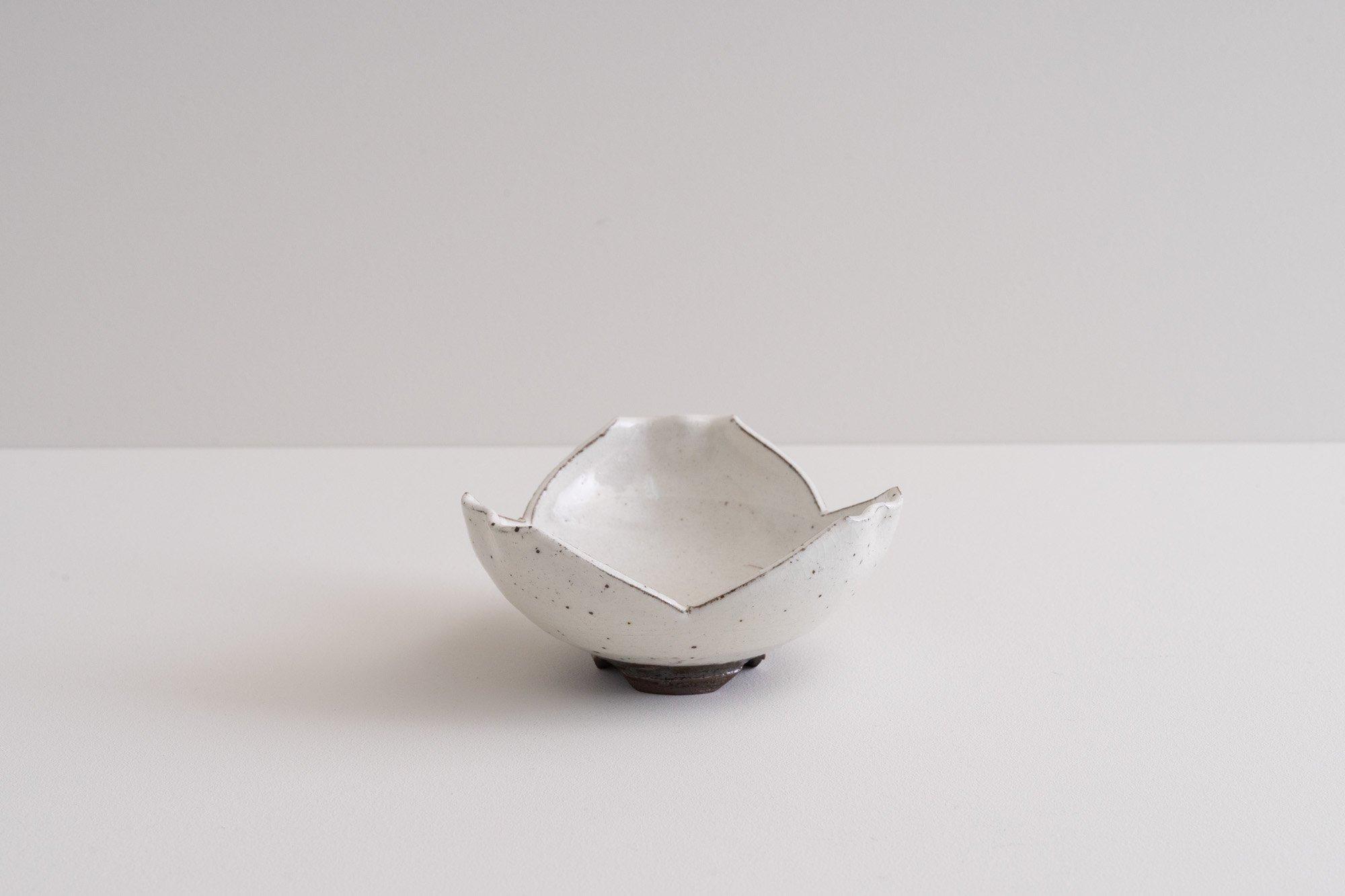 粉引割山椒小鉢