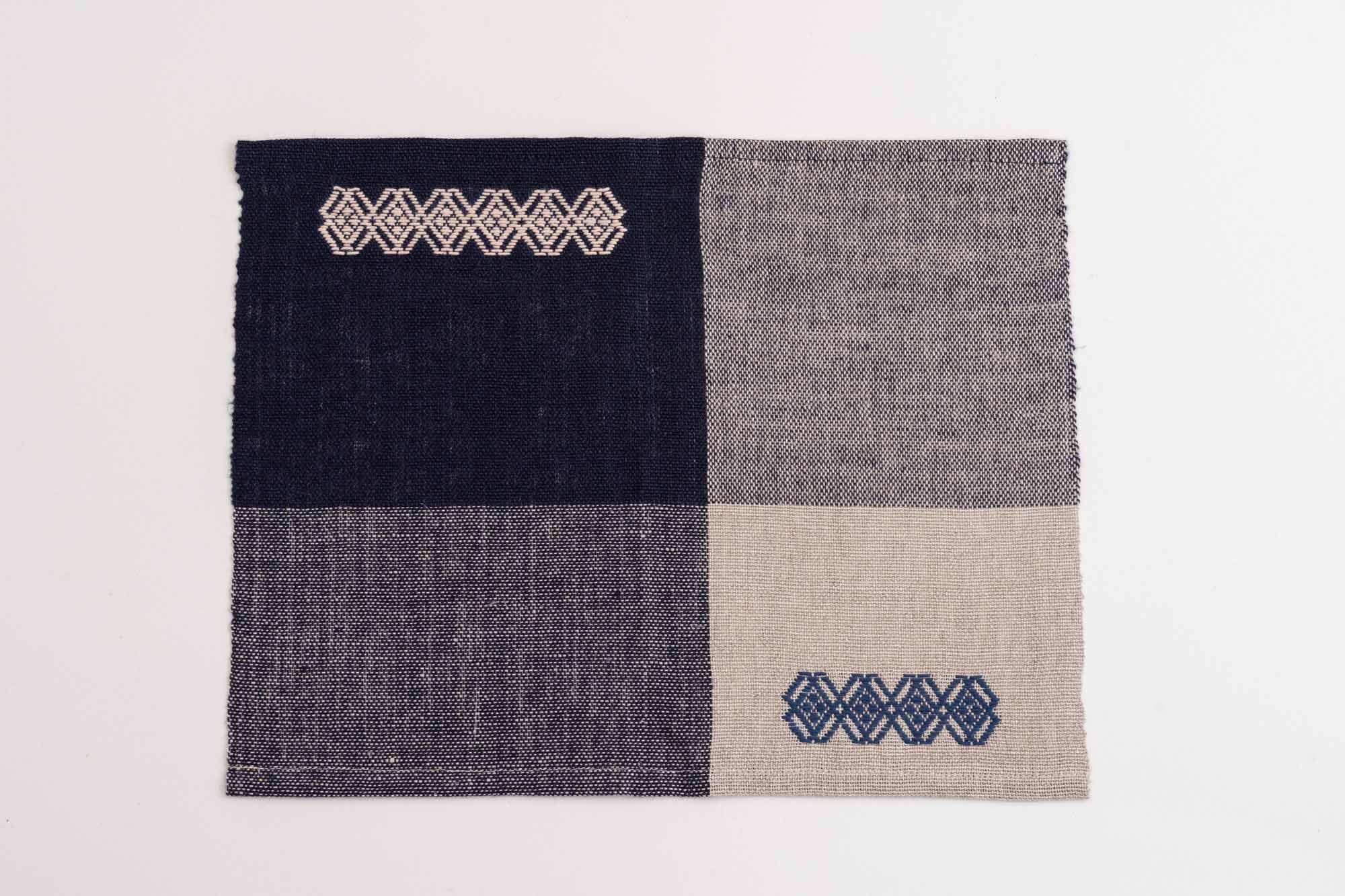 手織りランチョンマットE