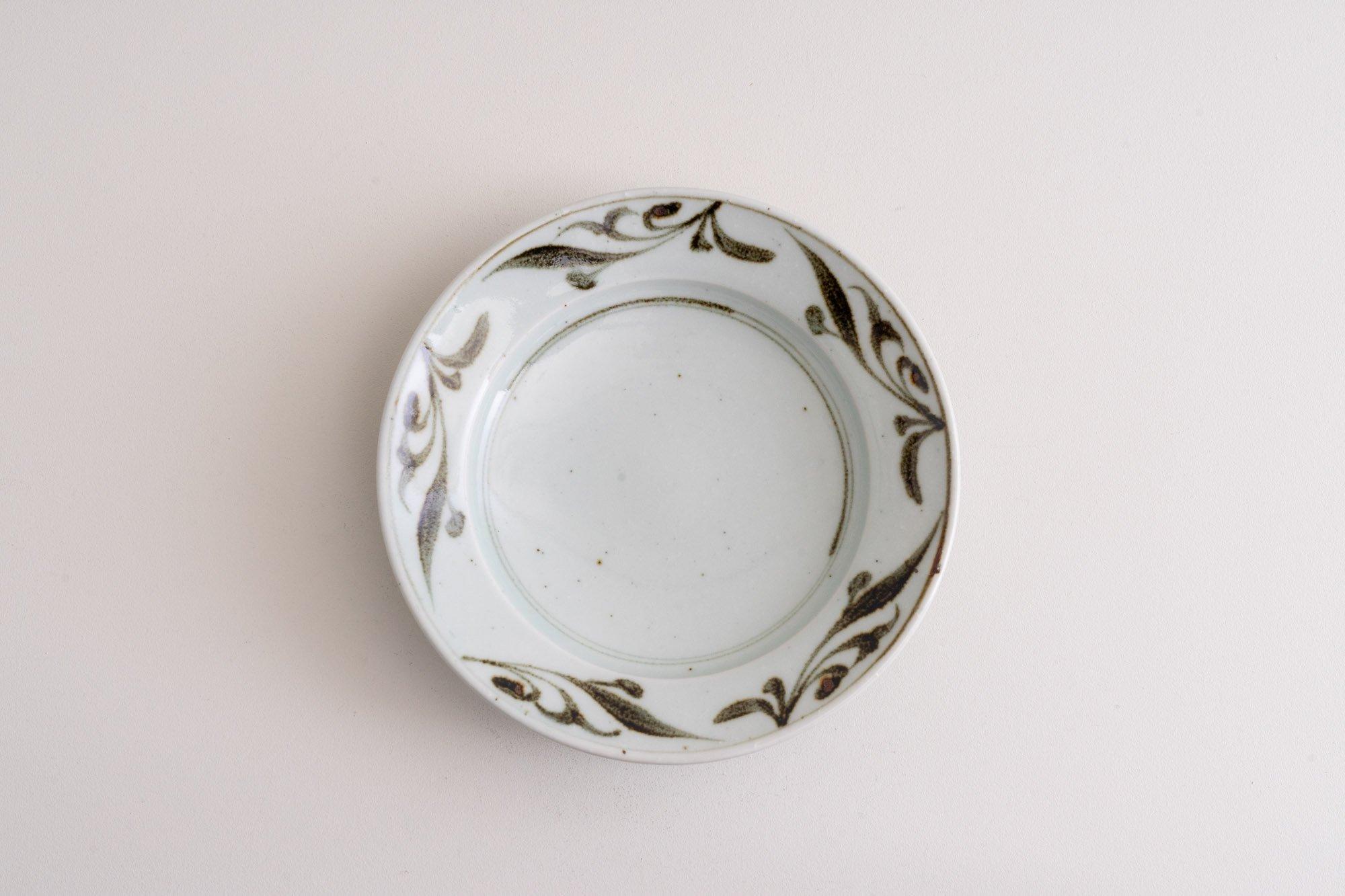 6寸リム皿(鉄釉ペルシャ)