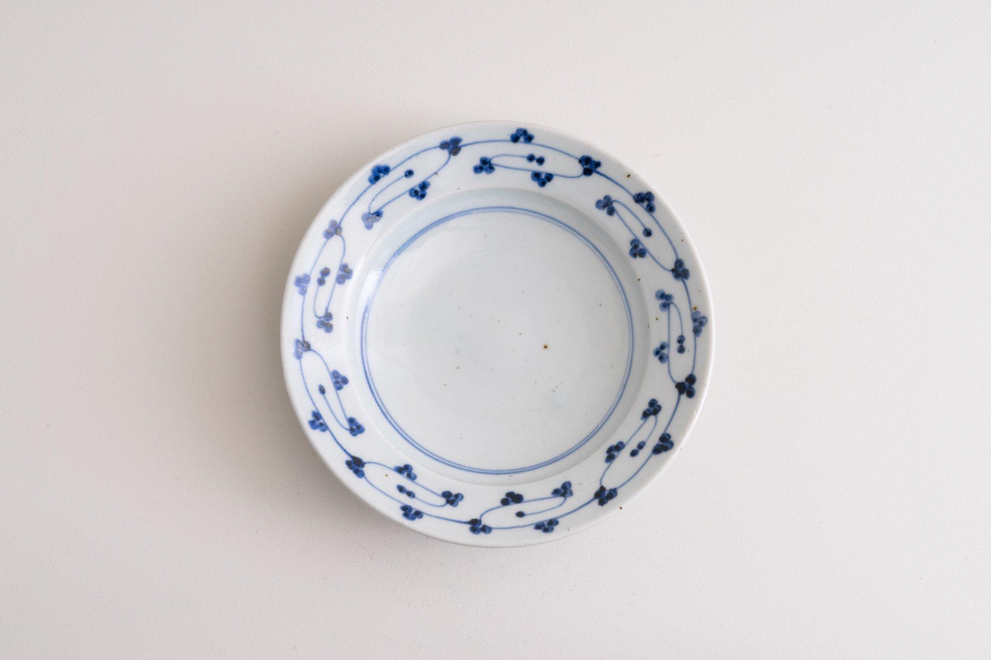 6寸リム皿(唐草)