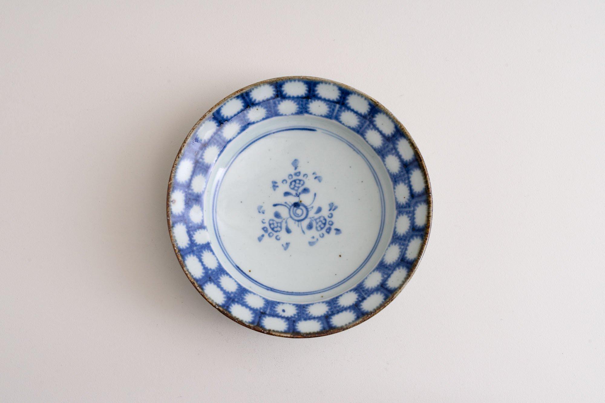 6寸リム皿(オナモミ・見込文)B