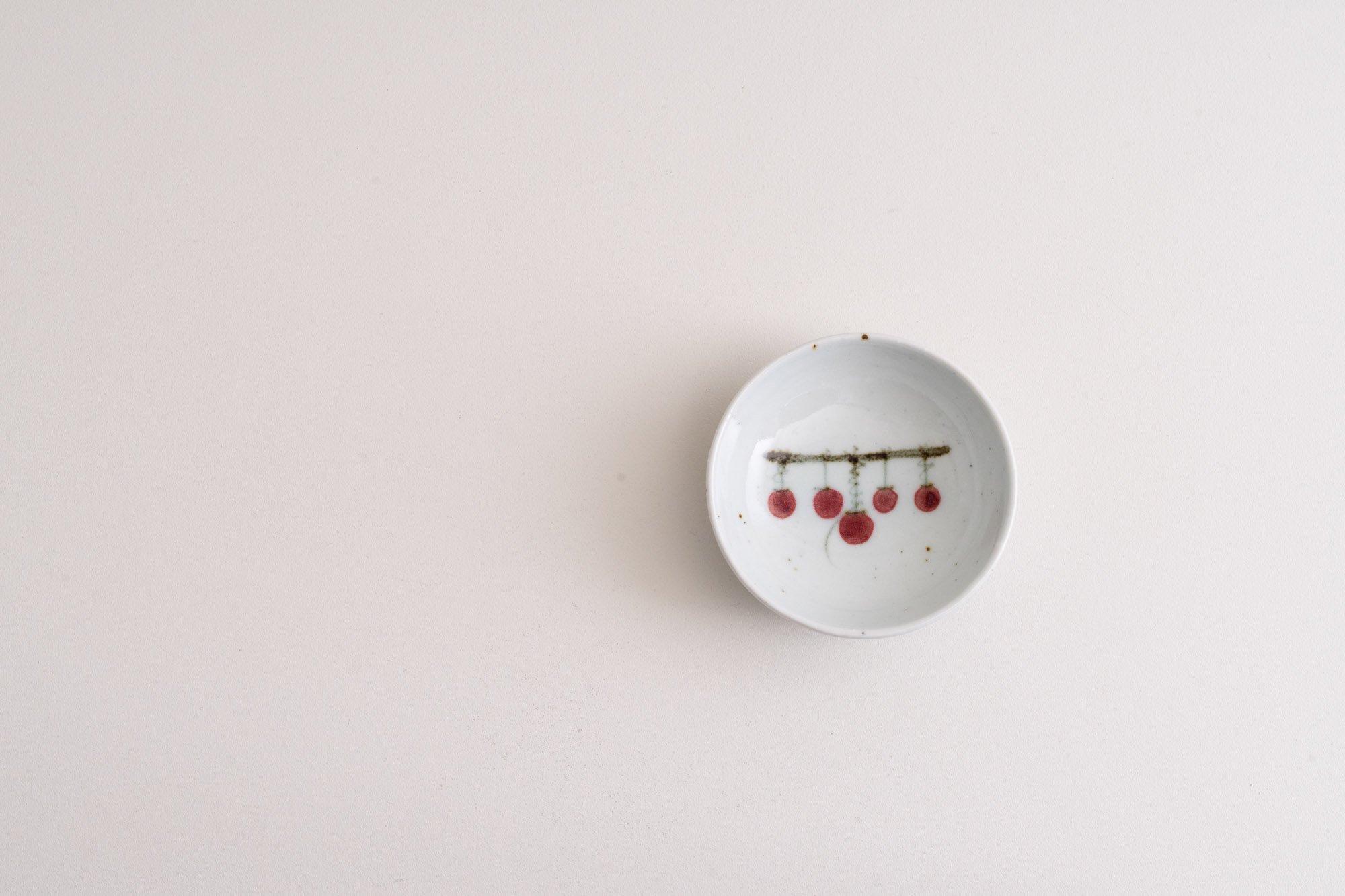 3寸丸皿(吊るし柿)