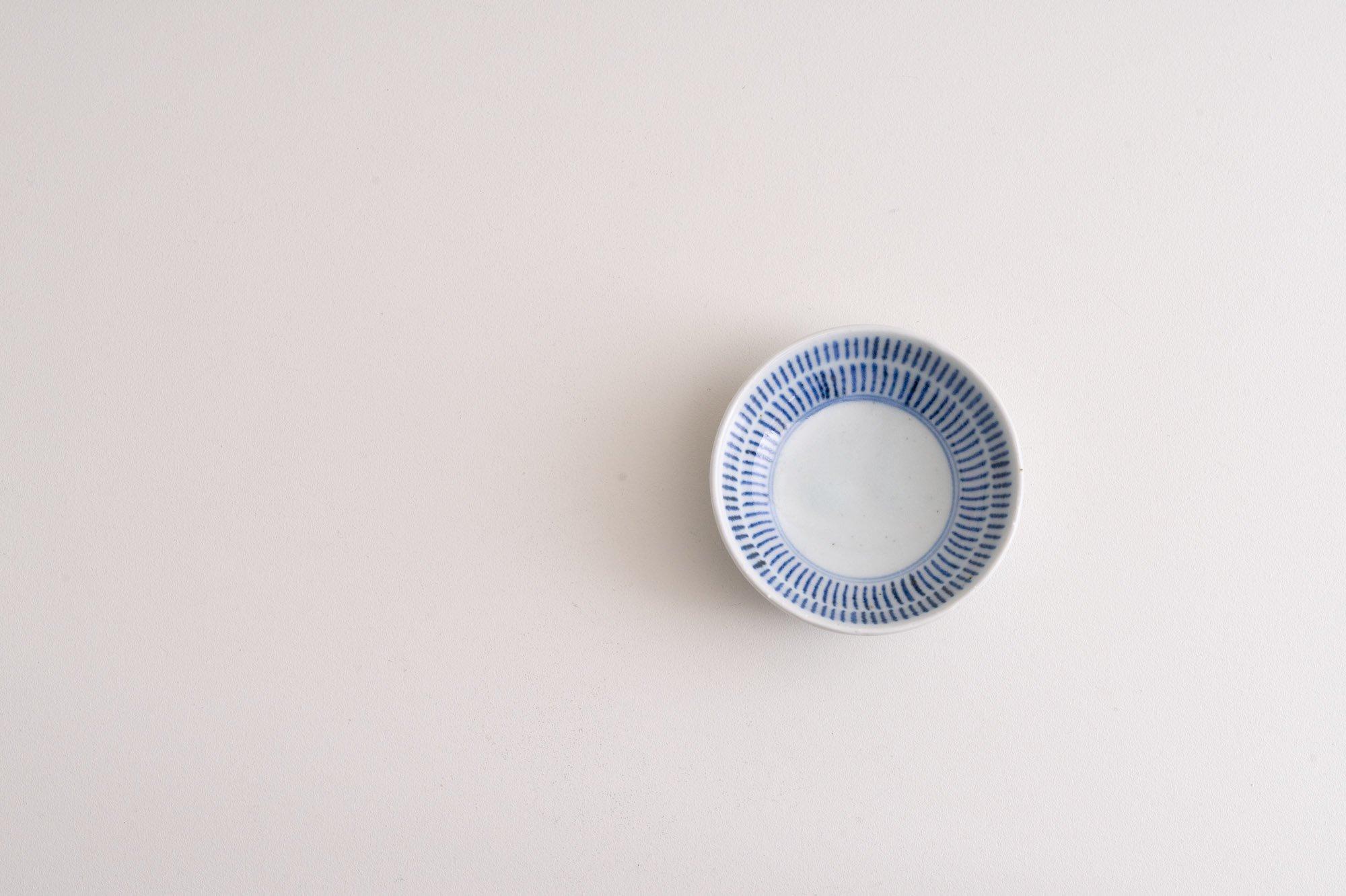 3寸丸皿(刷毛目)