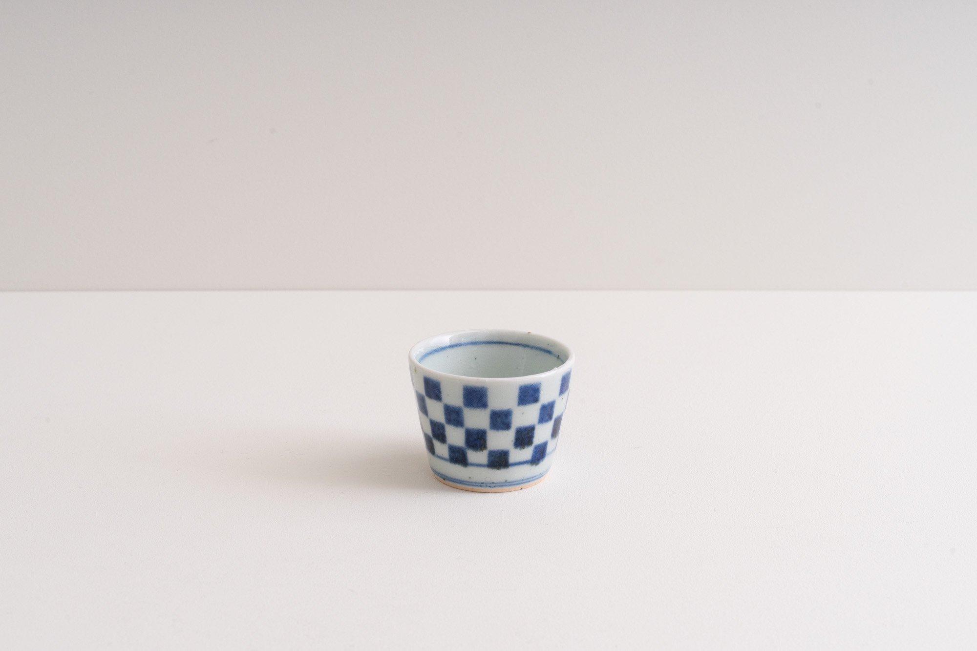 蕎麦猪口(ミニ)(市松)