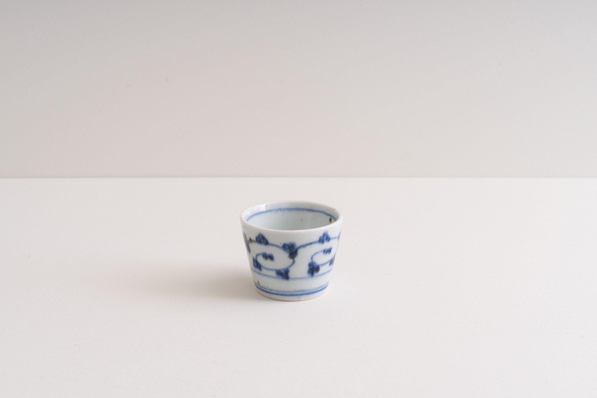 蕎麦猪口(ミニ)(唐草)