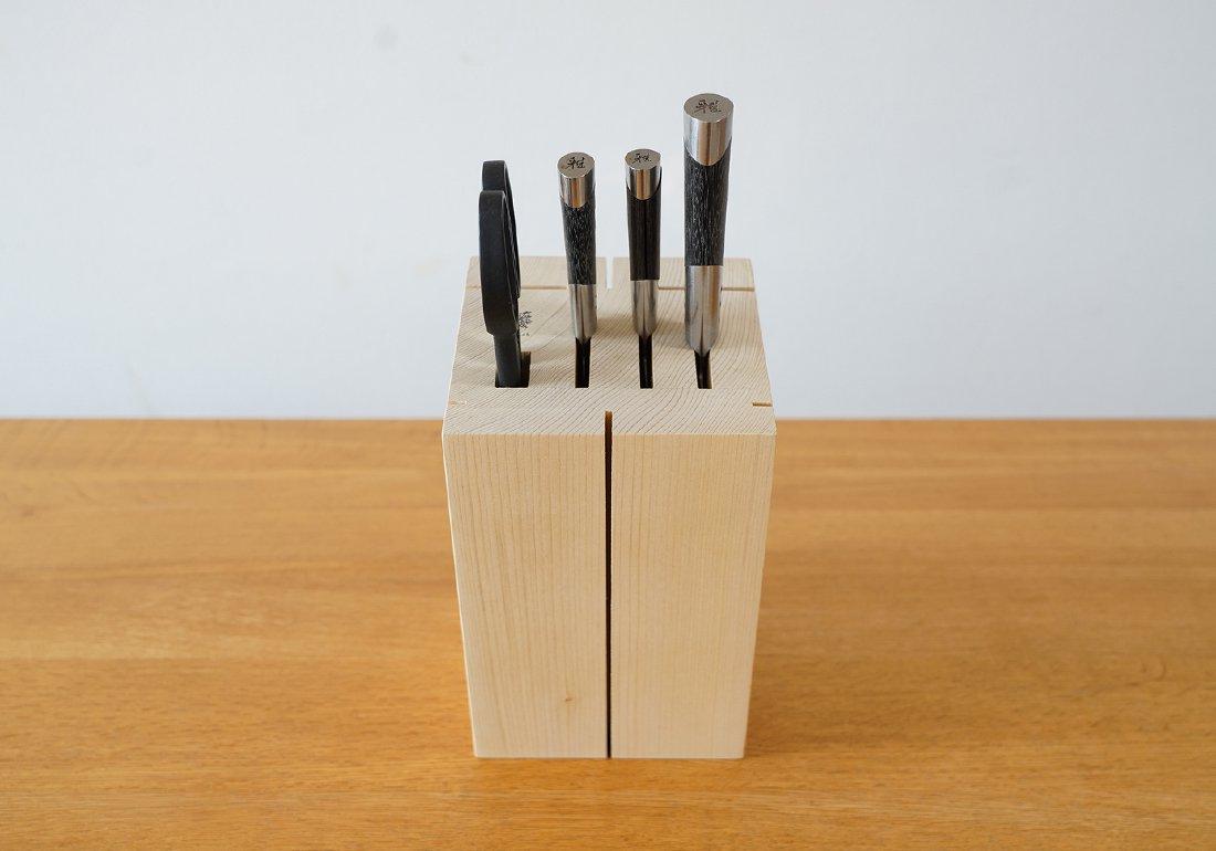 青森ヒバ包丁立て/HIBA KITCHIN KNIFE STAND