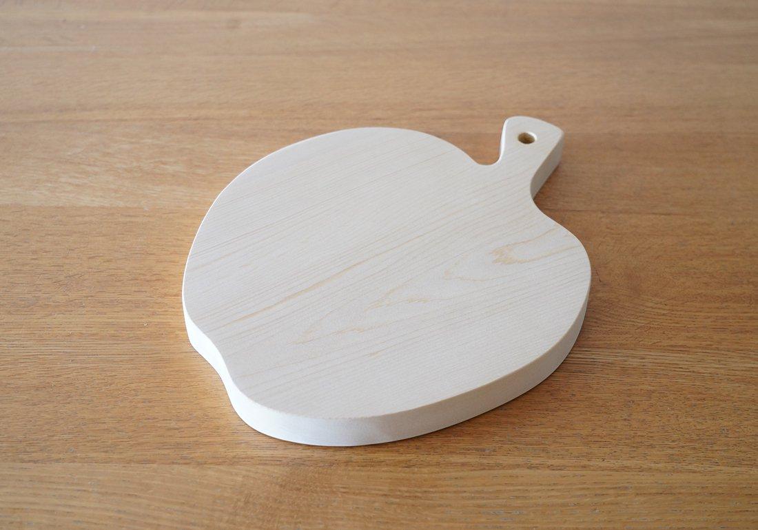 青森ヒバまな板 りんご・一枚板/CUTTING BOARD type:apple