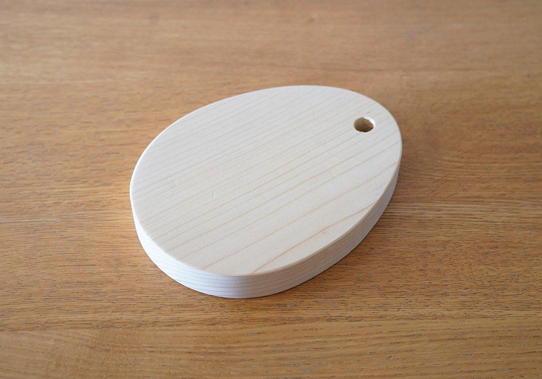ちいさなまな板 卵・一枚板/SMALL CUTTING BOARD type:egg