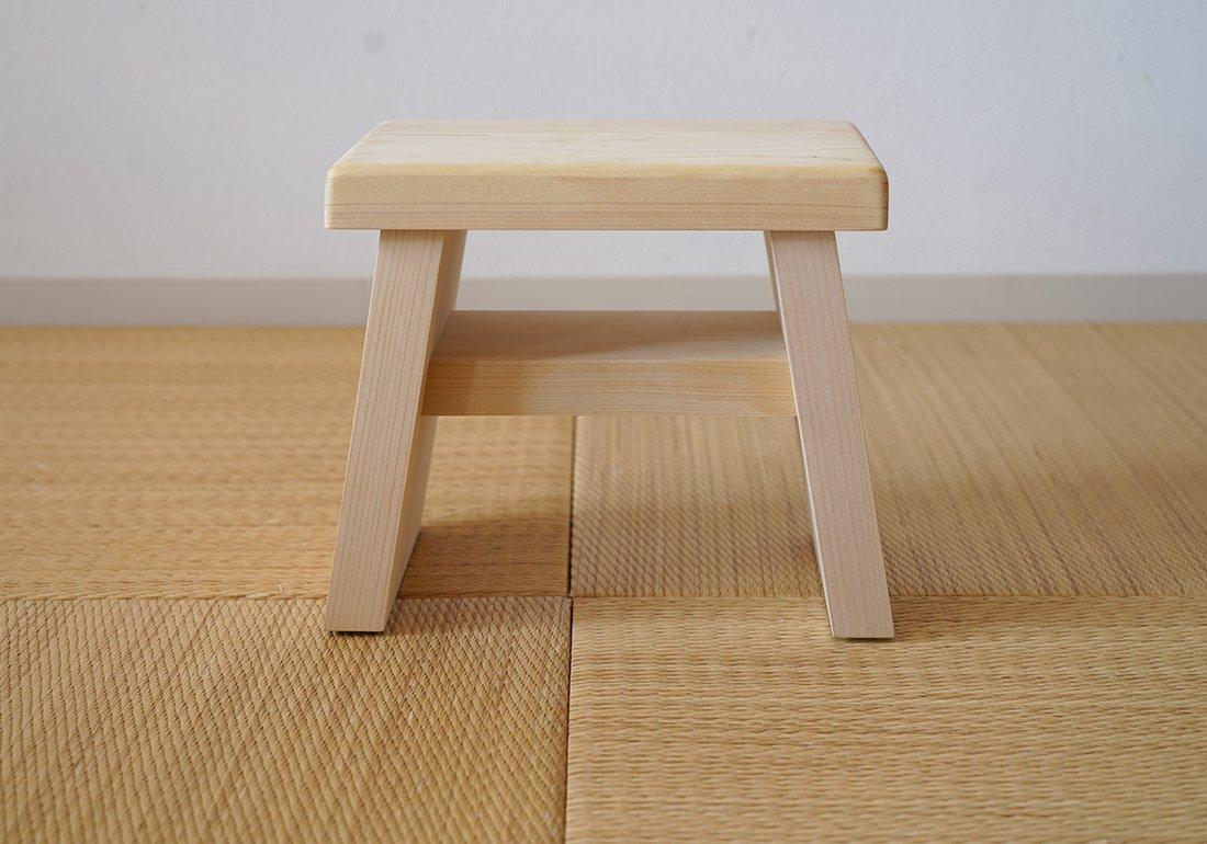 青森ヒバ風呂椅子(小)/HIBA BATH CHAIR small