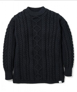 """<img class='new_mark_img1' src='https://img.shop-pro.jp/img/new/icons21.gif' style='border:none;display:inline;margin:0px;padding:0px;width:auto;' />MOCK T-NECK GANSEY CABLE SWEATER """"ASHER"""""""