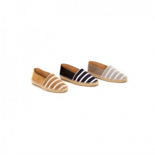 <img class='new_mark_img1' src='https://img.shop-pro.jp/img/new/icons21.gif' style='border:none;display:inline;margin:0px;padding:0px;width:auto;' />[hobo]Cotton Border Espadrille with Cow Suede Leather