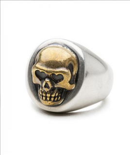 """<img class='new_mark_img1' src='https://img.shop-pro.jp/img/new/icons21.gif' style='border:none;display:inline;margin:0px;padding:0px;width:auto;' />[BEDWIN & THE HEARTBREAKERS]SKULL RING """"BROOKE"""""""