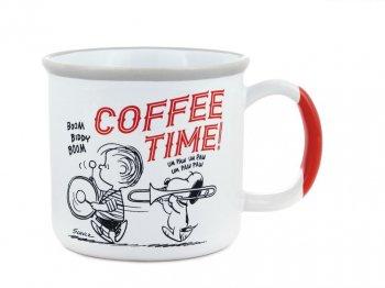 ピーナッツ 70周年記念 ライナス & スヌーピー w/ チャーリー・ブラウン Coffee Time ラージサイズ マグカップ
