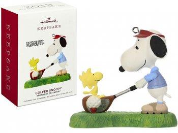 ホールマーク 2019 オーナメント ピーナッツ スヌーピー&ウッドストック ゴルフ PEANUTS Hallmark Golfer Snoopy Ornament