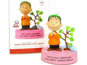 ホールマーク 2013 オーナメント ピーナッツ ライナス トーキング クリスマス What Christmas is All About  PEANUTS スヌーピーと仲間たち