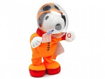 ピーナッツ スヌーピー 月面着陸50周年記念 宇宙飛行士 ぬいぐるみ オレンジ サウンド & アクション付き PEANUTS Animated Astronaut Snoopy