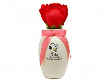 ホールマーク  スヌーピー 花瓶入り花 Blooming Expressions サウンド&アクション PEANUTS
