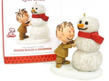 ホールマーク 2013 オーナメント ピーナッツ ピッグペン&雪だるま Pigpen Builds a Snowman  PEANUTS スヌーピーと仲間たち