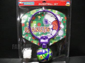 ピーナッツ スヌーピー&ウッドストック  バスケットボール プレイセット PEANUTS