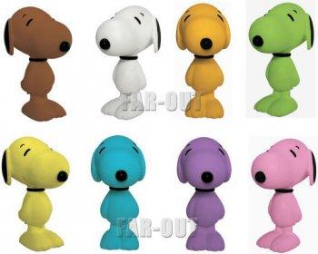 ピーナッツ スヌーピー Flocked フロック ビニール フィギュア ドール 人形 カラフル 8点コンプリートセット PEANUTS