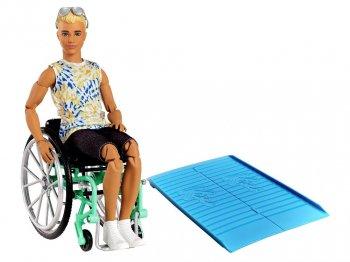 バービー ケン ファッショニスタ 車椅子 ドール サングラス スロープ付き ブロンド 人形 Ken Fashionistas Doll with Wheelchair (GWX93)
