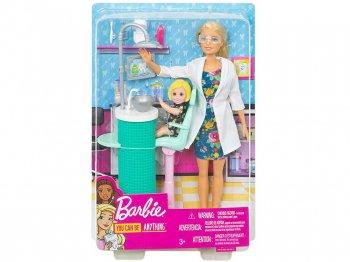 バービー 歯科医 ドール 人形 女の子のフィギュア付き プレイセット ブロンドヘア ニューバージョン 歯医者さん Barbie Dentist (FXP16)