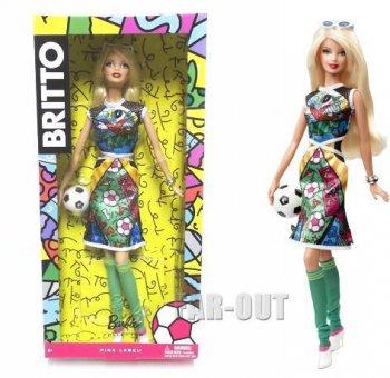 バービー ロメロ・ブリット BRITTO アート サッカー ドール 人形 限定版 Barbie Soccer Romero Britto