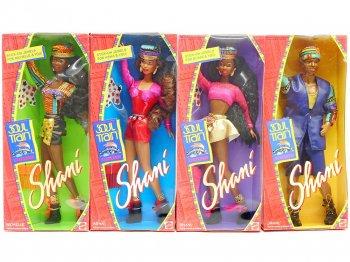 バービー ソウルトレイン Shani & フレンズ ブラック 黒人 ドール 人形 4点セット マテル社 Barbie Soul Train