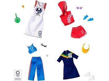 バービー 東京オリンピック 2020 着せ替え コンプリート 4点セット ライセンスファッション BARBIE COMPLETE LOOK OLYMPICS FASHION