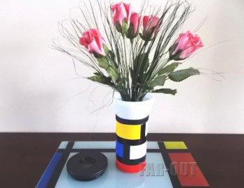 PO: ポー モンドリアンルック フラワーベース 花瓶