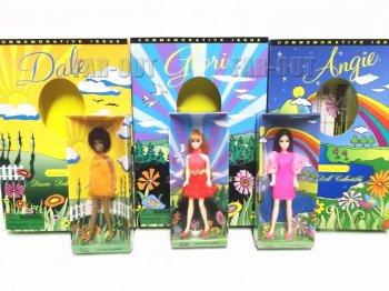 Dawn ドーン 30周年記念 1970-2000 ドーンのお友達 アンジー、グローリー、デール 復刻版 ドール 人形 3点セット