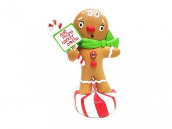 ホールマーク 2011 Wisecrackin Gingerbread Boy ジンジャーブレッドボーイ トーキング&シンギング フィギュア フィギュアリン