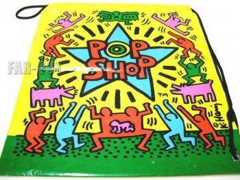 キース・ヘリング アート ポップショップ オリジナル ビニール ショッピングバッグ Keith Haring Pop Shop 鞄