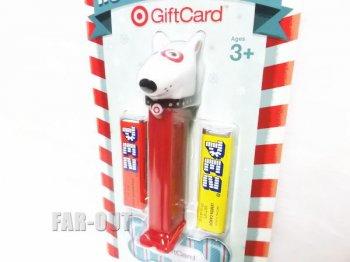 PEZ ペッツ ターゲット 2013 クリスマス ギフトカード付き Bullseye ブルズアイ ブルテリア犬