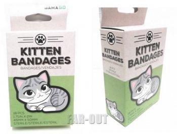 子猫のイラスト Kitten Bandages バンドエイド 絆創膏包帯 ボックス入り USA