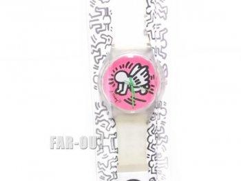 キース・ヘリング アート 腕時計 ピンク ベイビーエンジェル 限定版 Keith Haring Limited Edition Watch