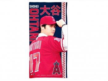 大谷翔平 ビーチタオル バスタオル ロサンゼルス エンゼルス オブ アナハイム ベースボール 野球 大リーグ MLB公認 Shohei Ohtani Beach Towel