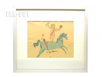 アンディ・ウォーホル プリポップ オリジナルアート 天使とユニコーン サイン入り Andy Warhol