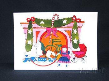 アンディ・ウォーホル プリポップ アート クリスマス メッセージカード 暖炉を飾るギフトのおもちゃ