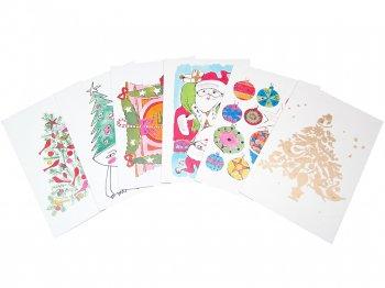アンディ・ウォーホル プリポップ アート クリスマス メッセージカード 6枚セット