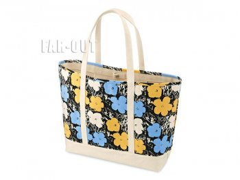 MoMA ユニクロ アンディ・ウォーホル アート キャンバストートバッグ ラージ フラワー 鞄