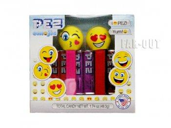 PEZ Emoji 絵文字 ハート フェイス ボックス入り 2点セット バレンタイン記念