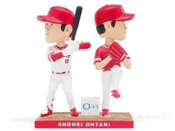 大谷翔平 ダブルボブルヘッドデー 二刀流 2018年 バブルヘッド 人形 ロサンゼルス エンゼルス オブ アナハイム ベースボール 野球 大リーグ MLB Shohei Ohtani Double B