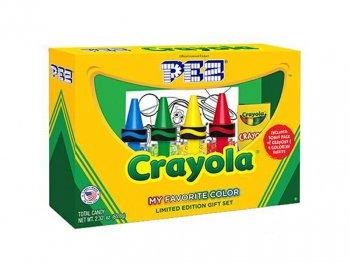 PEZ クレヨラ ボックス入り 4点セット ぬり絵&クレヨン付き 限定版 ギフトセット ペッツ Crayola Crayon