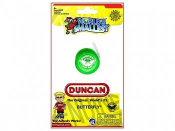 WORLD'S SMALLEST ダンカン バタフライ ヨーヨー グリーン ミニチュア トイ Duncan Butterfly Yo-Yo