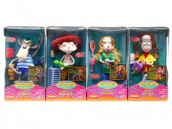 ワイルド・ソーンベリーズ フィギュア ボックス入り 4点コンプリートセット 1999年 マテル社 ニコロデオン ベンダブル Nickelodeon The Wild Thornberrys Dolls