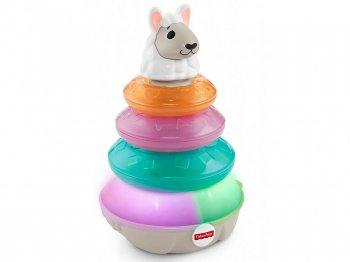 フィッシャープライス リンキマルズ ラマ 輪投げ トイ ライトアップ & サウンド 英語版 知育玩具 Fisher-Price Linkimals Lights & Colors Llama (FYK