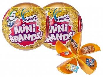 5 サプライズ ミニ ブランズ ! シリーズ 2 食品 ミニチュア フィギュア カプセルボールケース入り 2個セット トイ 5 Surprise Mini Brands! Surprise Ball
