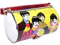 ビートルズ イエローサブマリン チューブ型 ブリキ缶トートバッグ 鞄
