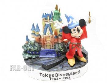 TDL 10周年記念 ソーサラーミッキー&シンデレラ城 キャッスル フィギュア 1993年 フィギュアリン 東京ディズニーランド